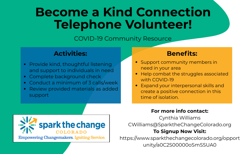 Become a telephone volunteer