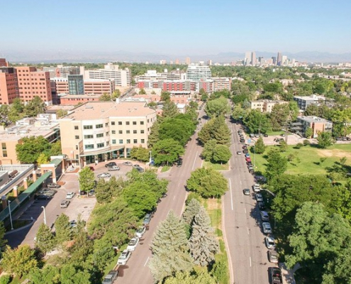 Arial view of Colfax