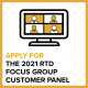 Apply for RTD Focus Group