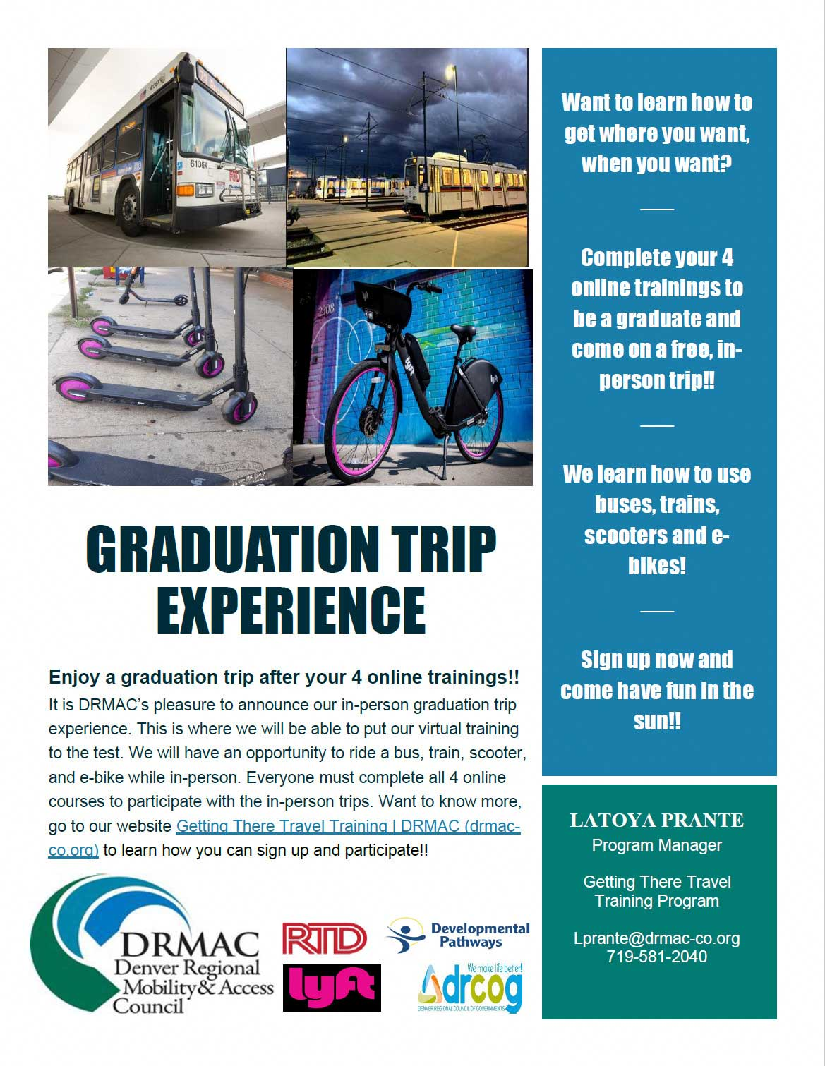 In person graduation trip experience